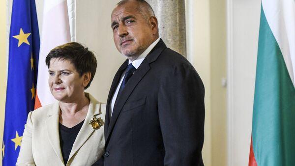 Premier Polski Beata Szydło i premier Bułgarii Bojko Borisow - Sputnik France
