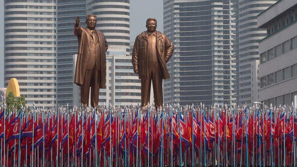 Праздничные мероприятия, посвященные 105-й годовщине со дня рождения Ким Ир Сена, в КНДР - Sputnik France