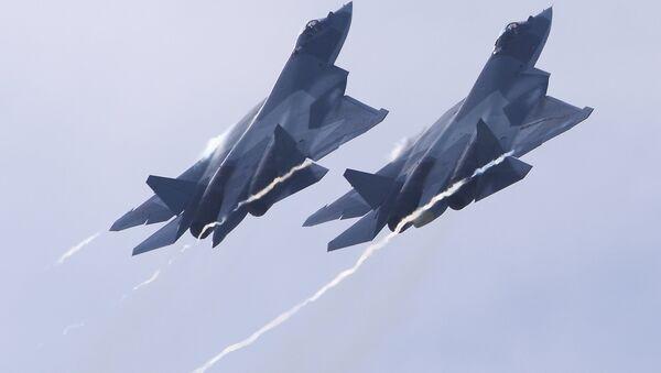 Caza ruso de quinta generación Su-57 - Sputnik France