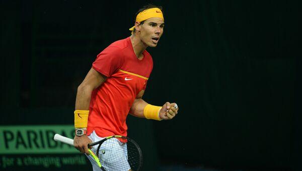 Rafael Nadal célèbre un point durant un match de la Coupe Davis  - Sputnik France