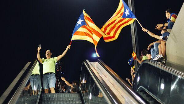 Une manifestation en faveur du référendum d'indépendance catalane à Barcelone - Sputnik France