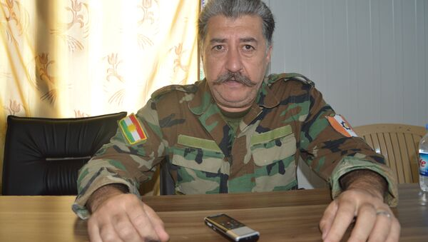 le commandant des Peshmergas, Hussein Yazdanpanah - Sputnik France