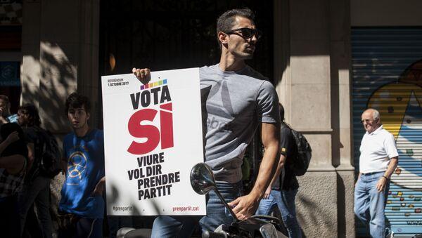 Сторонники независимости Каталонии призывают своих сторонников выйти на улицы Барселоны и других городов в знак протеста против действий испанских властей - Sputnik France