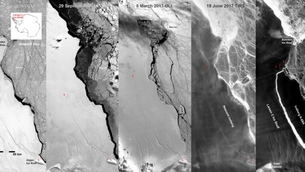 La dislocation de la barrière de Larsen - Sputnik France