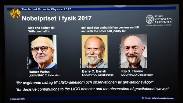 Kip Thorne, Rainer Weiss et Barry Barish - Sputnik France