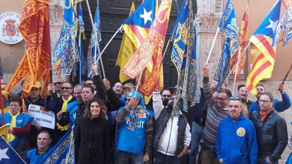 Manifestazione davanti al Consolato spagnolo a Verona. - Sputnik France
