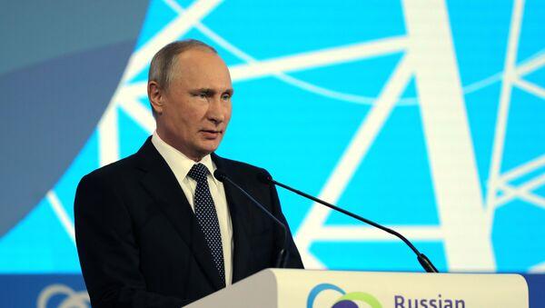 Vladimir Poutine au forum international «La semaine russe de l'énergie» - Sputnik France