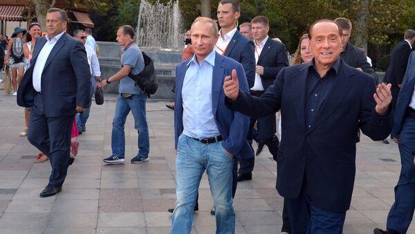 Vladimir Poutine et Silvio Berlusconi - Sputnik France