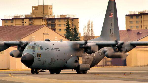 Un Hercules C-130H en la base estadounidense de Yokota - Sputnik France