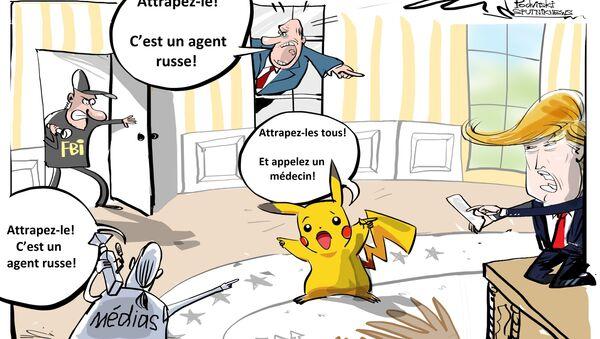 Quand la Main du Kremlin manipule Pikachu pour interférer dans la présidentielle US - Sputnik France