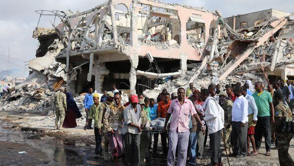 Mogadiscio après l'explosion d'un camion piégé le 14 octobre 2017 - Sputnik France