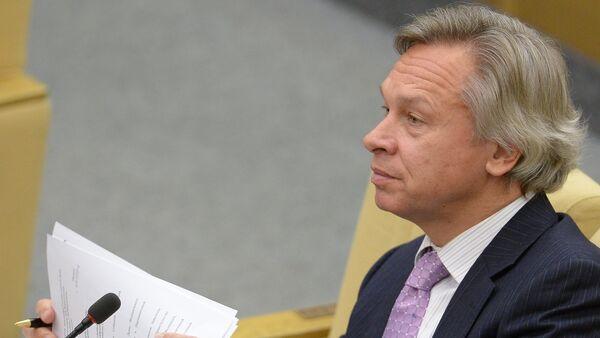 Alexei Pushkov, Chairman of the State Duma's International Affairs Committee - Sputnik France