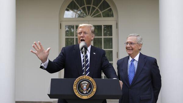 Donalt Trump devant la Maison-Blanche - Sputnik France