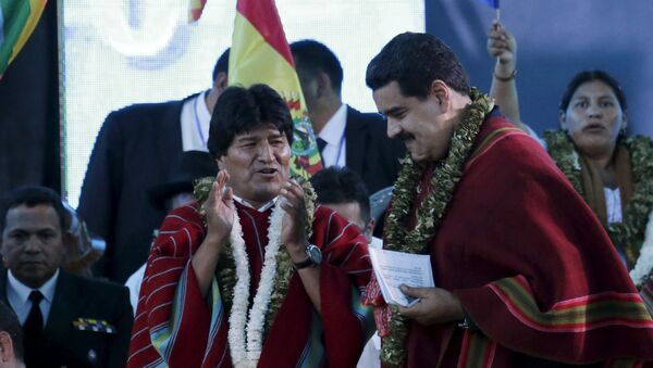 Evo Morales et Nicolas Maduro - Sputnik France