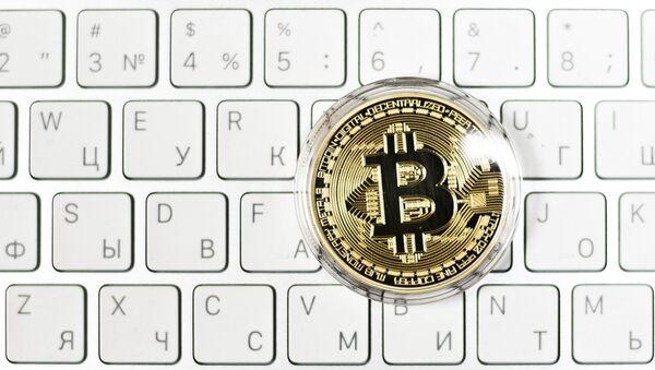 Bitcoin cryptomonnaie, image d'illustration - Sputnik France