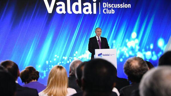 Президент РФ В. Путин принял участие в итоговой сессии Международного дискуссионного клуба Валдай - Sputnik France