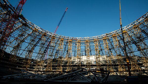 Строящийся стадион Самара Арена в Самаре. - Sputnik France
