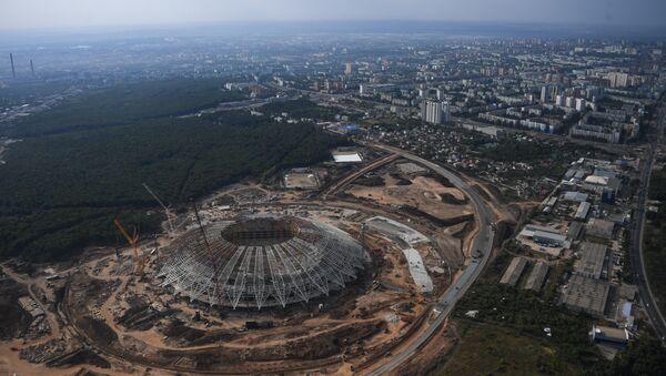 Le stade Samara Arena. Vue depuis un hélicoptère - Sputnik France