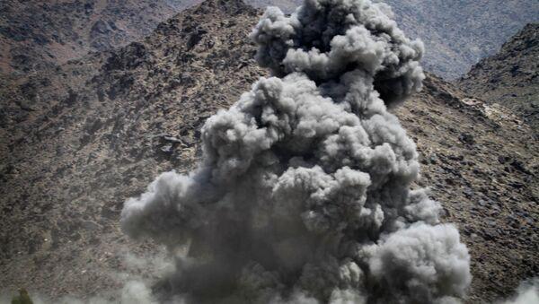 Une frappe contre les talibans en Afghanistan (image d'archives) - Sputnik France