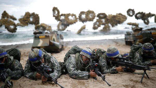 Les commandos sud-coréens participent à des exercices militaires avec les militaires américains - Sputnik France