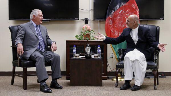 Rex Tillerson et Ashraf Ghani - Sputnik France
