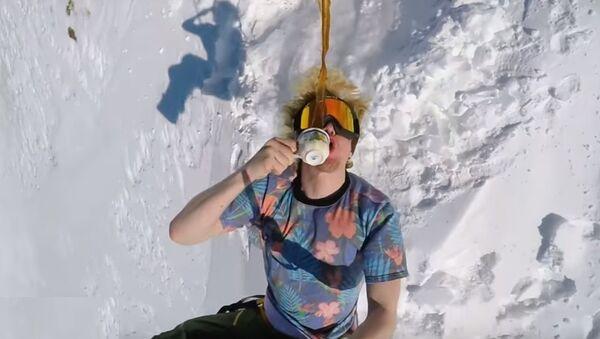 Voici comment les vrais snowboarders boivent leur café - Sputnik France