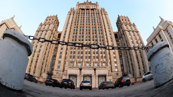 The Russian Ministry of Foreign Affairs on Smolenskaya-Sennaya Square in Moscow - Sputnik France