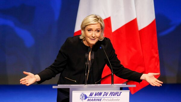 Marine Le Pen, French National Front (FN) political party leader and candidate for the French 2017 presidential election - Sputnik France