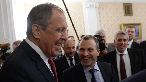 Sergueï Lavrov et Gebran Bassil - Sputnik France
