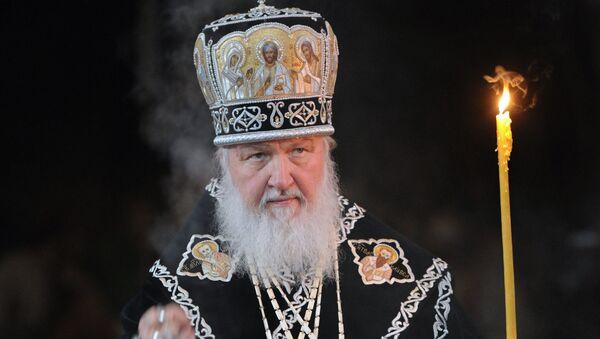 Патриарх Кирилл совершил богослужение с чином погребения плащаницы - Sputnik France