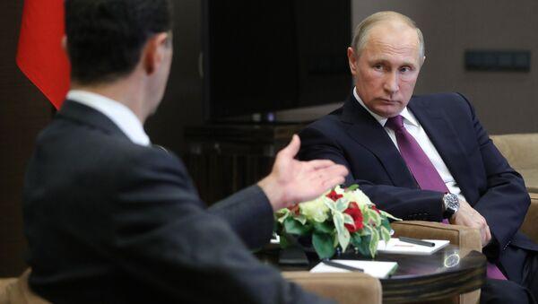 Rencontre Poutine-Assad à Sotchi - Sputnik France