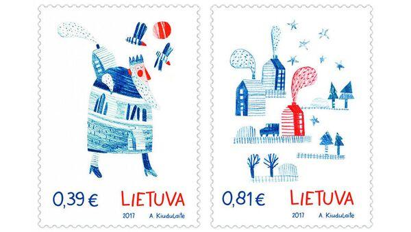 Праздничные рождественские почтовые марки с ароматом имбирного печенья в отделениях Почты Литвы - Sputnik France