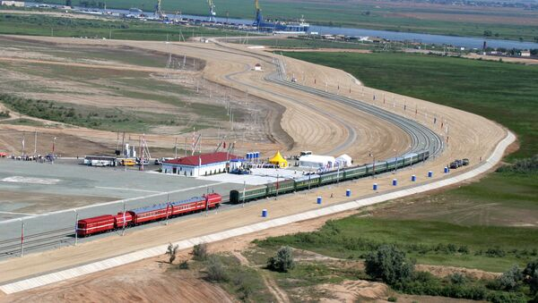 La construction du corridor de transport international «Nord-Sud» en Russie - Sputnik France