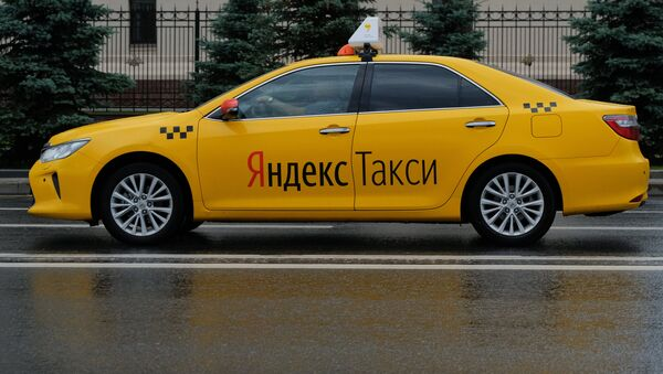 A car of the Yandex Taxi service in a street of Moscow - Sputnik France