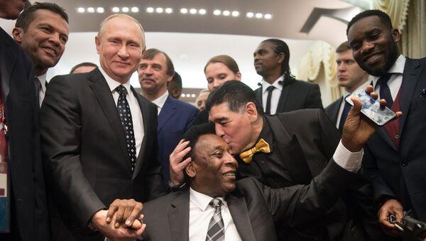 Президент РФ В. Путин принял участие в финальной жеребьёвке ЧМ по футболу ФИФА 2018 в России - Sputnik France