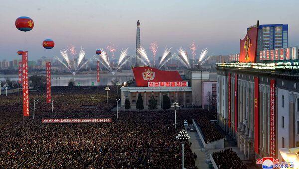 Des festivités à Pyongyang suite au tir réussi d'un missile intercontinental - Sputnik France