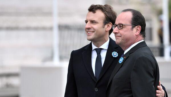 Emmanuel Macron et François Hollande - Sputnik France