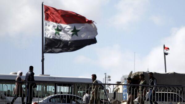 Flagge Syriens in Damaskus - Sputnik France