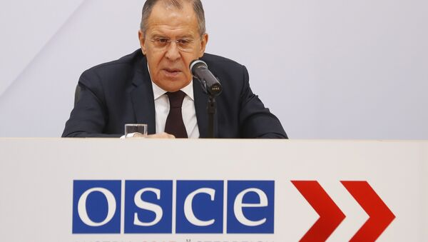 Russia's Foreign Minister Sergei Lavrov addresses a news conference during a meeting of OSCE Foreign Ministers in Vienna, Austria, December 8, 2017. - Sputnik France