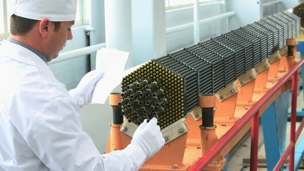 Nuclear power reactor fuel assembly at the Novosibirsk Chemical Concentrate Works - Sputnik France