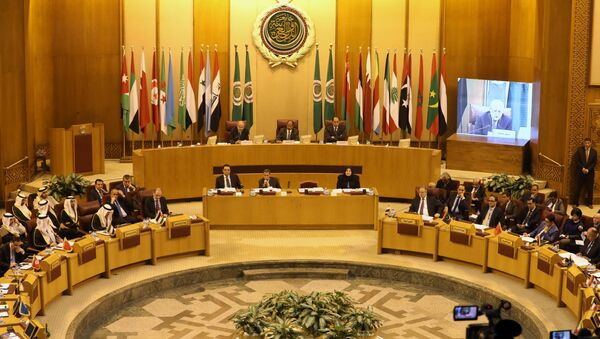 Arab League foreign ministers hold an emergency meeting on Trump's decision to recognise Jerusalem as the capital of Israel, in Cairo, Egypt December 9, 2017. - Sputnik France