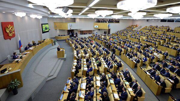 Une séance plénière de la Douma russe - Sputnik France