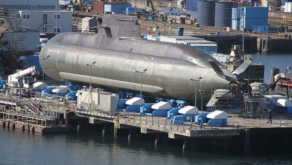 Image of the U35, a german type 212A submarine, at HDW shipyard, a major naval shipyard in tge city of Kiel - north Germany, which is an important constructor of submarines of NATO. - Sputnik France