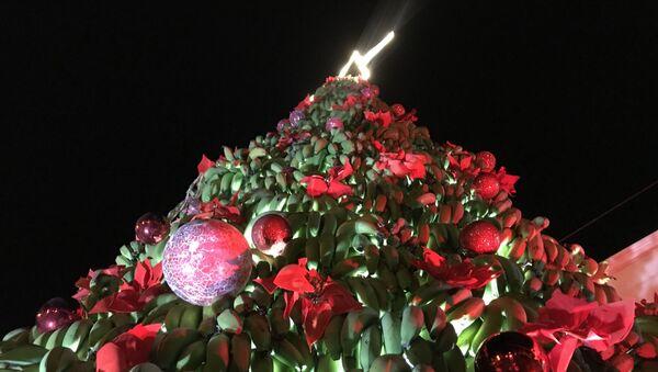 Рождественская елка из тонны бананов в Ливане - Sputnik France