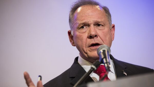 Republican candidate for US Senate Judge Roy Moore speaking during a news conference with supporters and faith leaders, in Birmingham, Alabama. (File) - Sputnik France