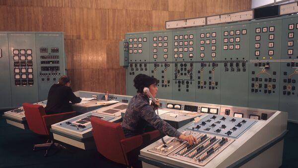 Panneau de contrôle de la centrale hydraulique de Krasnoïarsk (Russie) - Sputnik France