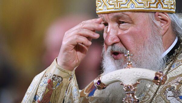 Le Patriarche Cyrille célèbre une liturgie en la cathédrale du Christ-Sauveur à Moscou - Sputnik France