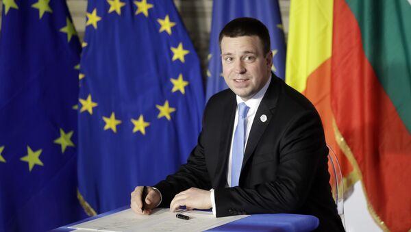 Le Premier ministre estonien Juri Ratas - Sputnik France
