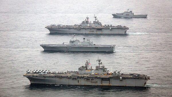 Des navires de guerre américains participent à des exercices avec la Corée du Sud - Sputnik France