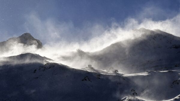 A general view taken on January 6, 2018 shows a summit at the Val Thorens ski resort, Europe's highest. PHILIPPE DESMAZES / AFP - Sputnik France